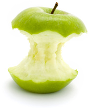 Photo: apple core