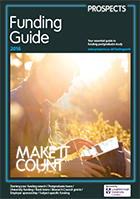 Cover image: Prospects Postgraduate Funding Guide