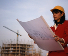Photo: Civil engineer on a building site