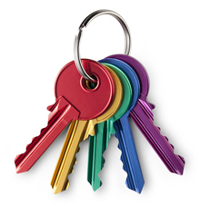 Photo: Bunch of coloured keys
