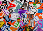 Photo: Collage of letters