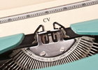 Photo: CV on a typewriter