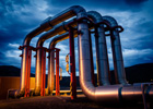 Photo: Geothermal energy pipelines