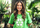 Photo: Girl wearing a recycling t-shirt