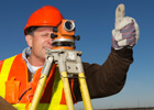 Photo: Surveyor giving the thumbs up sign